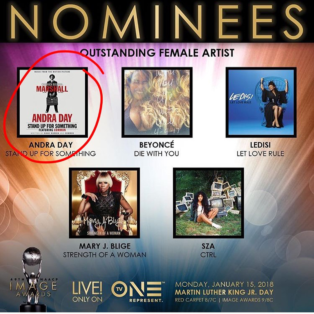 ⭐️So proud of my bestie-boo  for her TWO nominations for the 2017 NAACP Image Aw...
