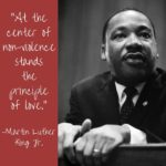 """At the center of nonviolence stands the principle of love."" MLK Jr. ..."