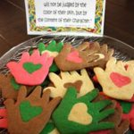 Cookies that share a message of peace and friendship.  Perfect for MLK!