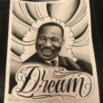 Finished this Martin Luther King portrait today. Not normally what I paint. It w…