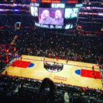 First live Basketball game! The Staples Center is huge!        …