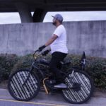Homie with the motorized  beach cruiser...only in Marrero baaabay!       ...