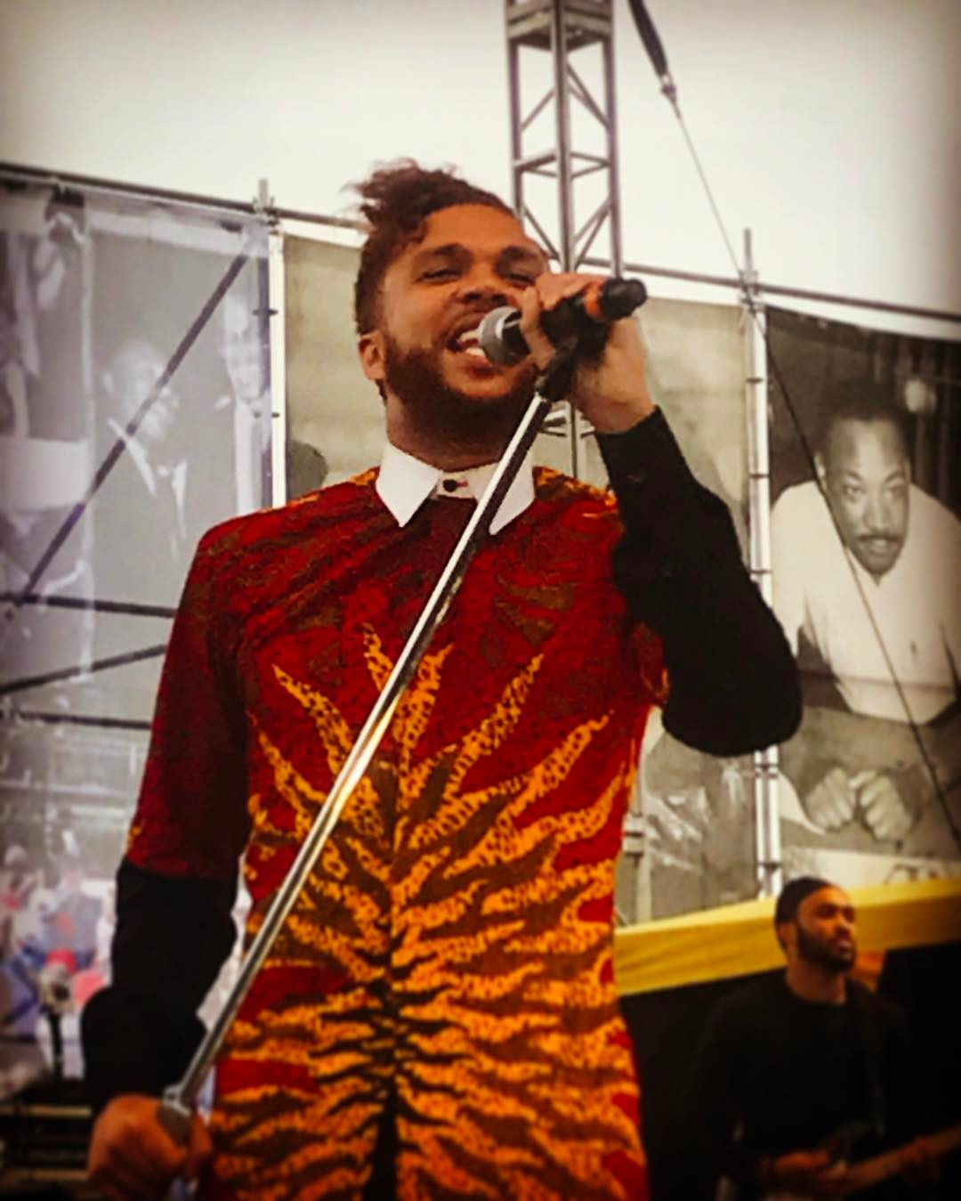 Jidenna Yesterday At The Martin Luther King March In San Antonio