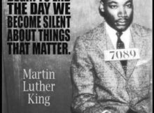 Martin Luther King...agree...we need to speak out against this craziness going o...