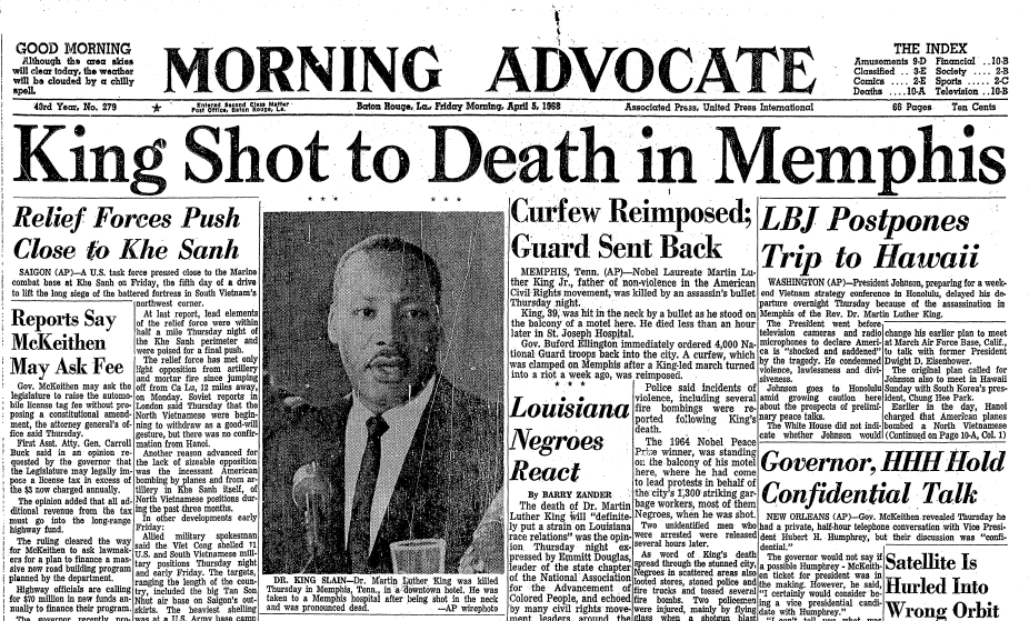 martin luther king death