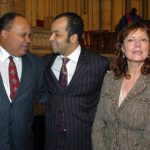 Martin Luther King III, Jeffrey Wright, and Susan Sarandon at the The 'Realizing…