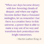 Martin Luther King Jr. day yesterday, let's never forget the wisdom and courage …