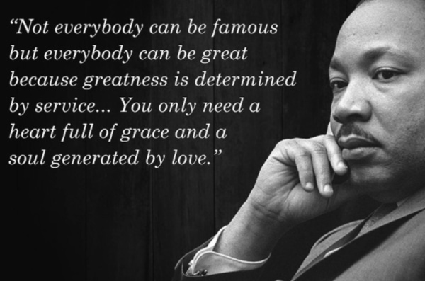 mlk quotes about greatness, soul, fame