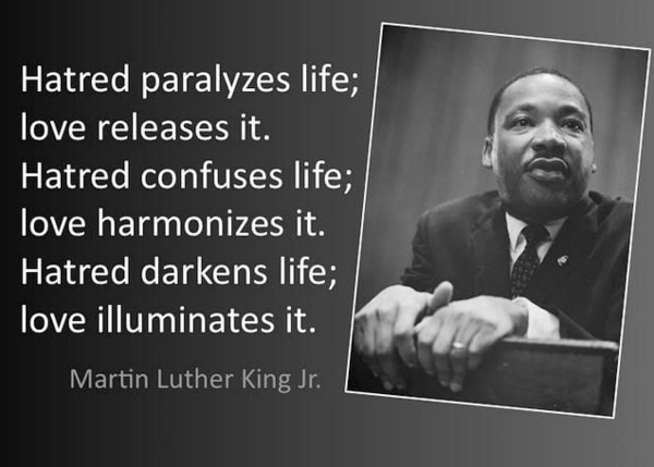 Martin Luther King Jr quotes on Hate and Love