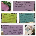 "More patron notes and art from our ""I Have a Dream"" table. On display all this w..."