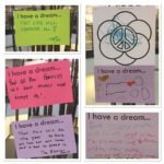 "Patrons ""I have a dream"" notes and art are on display all week.   ..."