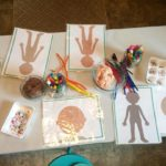 Using homemade flesh colored salt dough with loose parts the children made peopl…