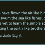 """We have flown the air like birds and swum the sea like fishes, but have ye…"