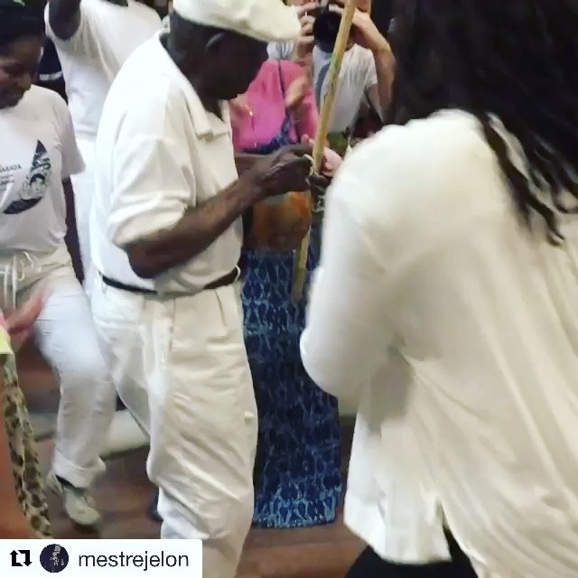 with ・・・ Celebrating Mestre João Grande 84th Birthday  and honoring the memor…