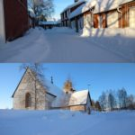 A beautiful day for a little walk through  church town near Luleå! Pretty cold a...