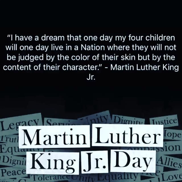 Happy Birthday Martin Luther King Jr. Your dream came true! ️   ...