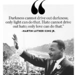 Hate can not drive away hate only  can do that...        ...
