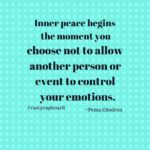 Isn't this such a great quote?  Do you strive for inner peace or do events and p…