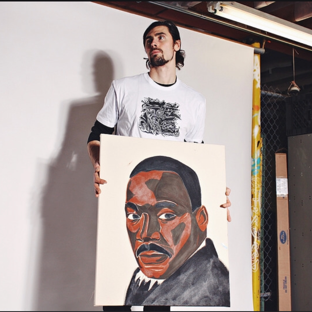 MLK in progress. Almost finished. Dropping the flyer for the show tomorrow.🤙Than...