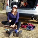 Oiling up before my second day of hiking  on There was no snow in the park an…