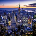 One of my favorite shots of the NYC skyline complete with the Empire State lit u...