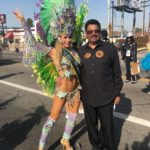 With the Hollywood Carnival President  in the Martin Luther King Parade!! An hon…