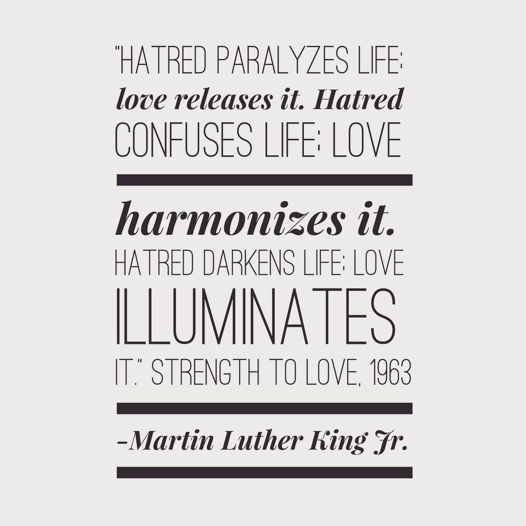 Always choose love! • Inspiring quote as we celebrate Martin Luther King Jr. da…