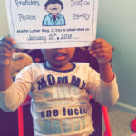 For MLK Jr. Day, we colored, read and put together this booklet from ( Jordan le...