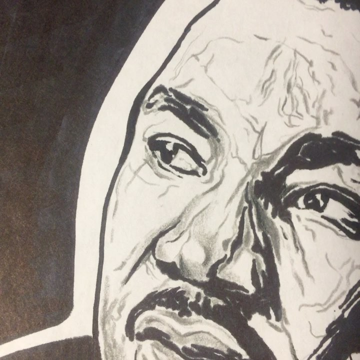 Happy Birthday 🤗🤴️Martin Luther King Jr.  Art by me… (not digital clearly)    …