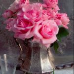 I love this idea. I do it with roses from my garden in small sterling vases and ...