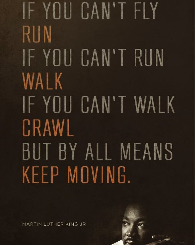 Keep moving forward. ▫️ ▫️ ▫️ ▫️ ▫️ ...