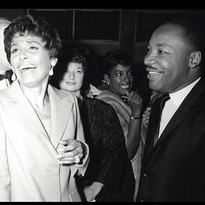 Lena Horne and Martin Luther King Jr to honor this amazing man ️️    …