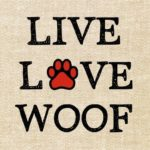 Live Live Woof – Exclusive Tshirt For Pet Lovers – *** Just Release – Not Store …