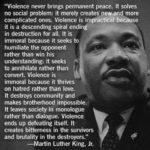MLK'S wise words on Violence