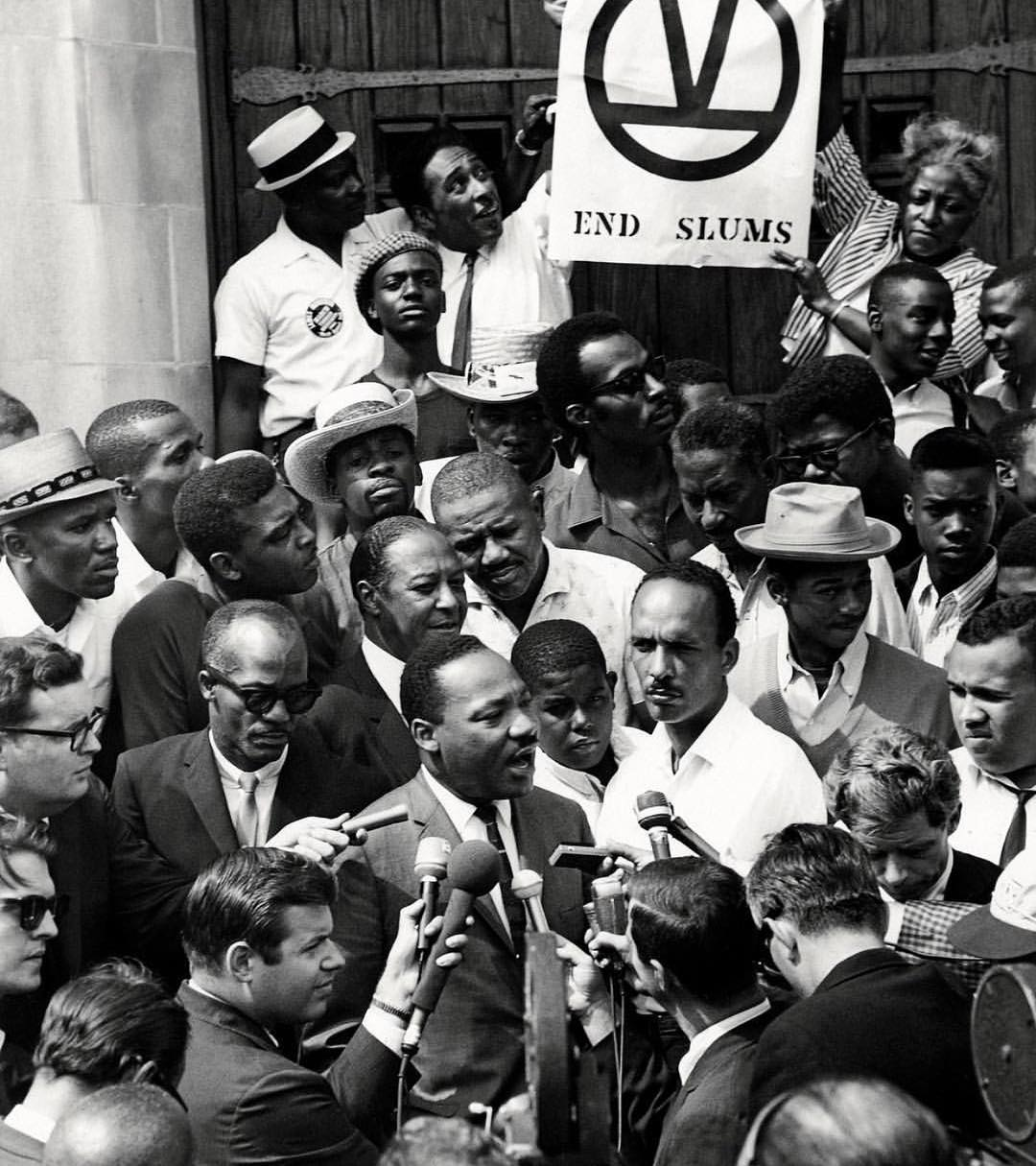 Repost  • Happy Martin Luther King Jr. Day. Here he speaks in front of the New F...
