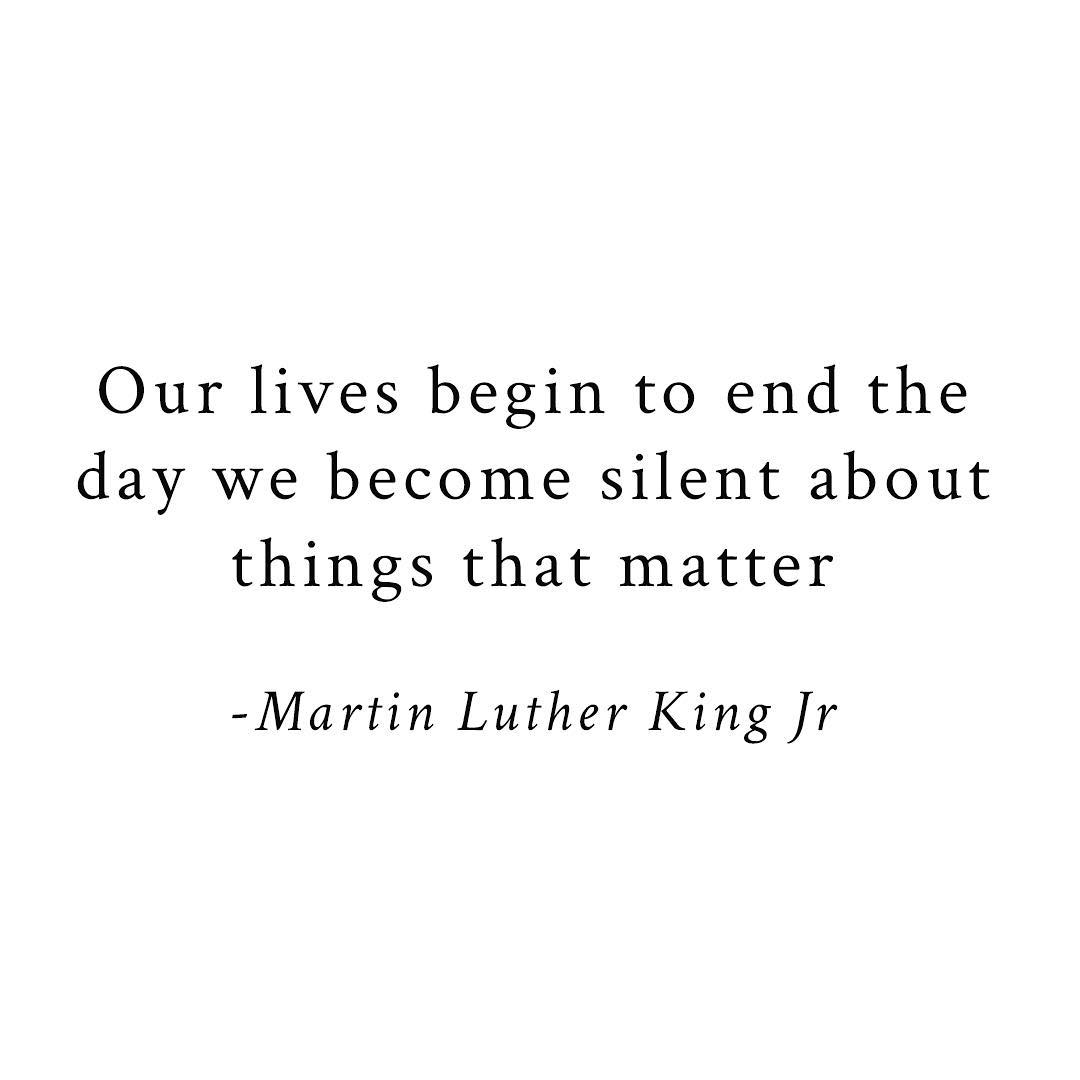 Happy MLK day ️️ Thought I would share this amazing quote by him. Always relevan...