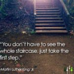 In honor of Martin Luther King Jr. Day, take the first step today… in whatever…