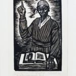linoleum cut of Sojourner Truth at the  on this ever more important day!       ...