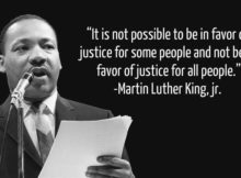 Martin Luther King quote on Justice for All