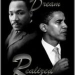 President Barack Obama and Martin Luther King, Jr