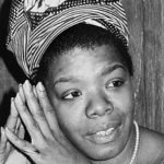 """Don't bring negative to my door.""   – Maya Angelou"