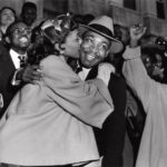 Gene Herrick, Mrs. King Kisses Rev. King after Boycott Guilty Verdict, March 22,…