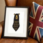 Bear hug Print A4 by OldEnglishCo on Etsy, £15.00
