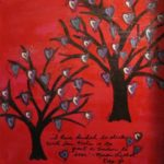 Contemporary Large Original Tree Mixed Media Canvas by CarlasCraft, $195.00