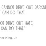 Darkness cannot drive out darkness, only light can do that MLK Jr. quote on joyf…
