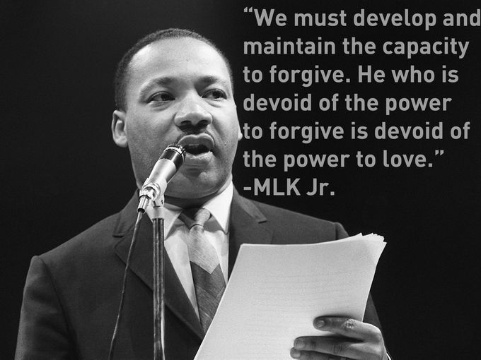 The US clergyman and civil rights leader Dr. Martin Luther King, Jr. on the impo...
