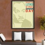 Dr Martin Luther King Jr Poster, MLK Jr Quote, MLK Day Retro Poster Print, Afric...
