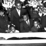 The photo below, taken on April 8, 1968 shows Dr. Martin Luther King laying dead…