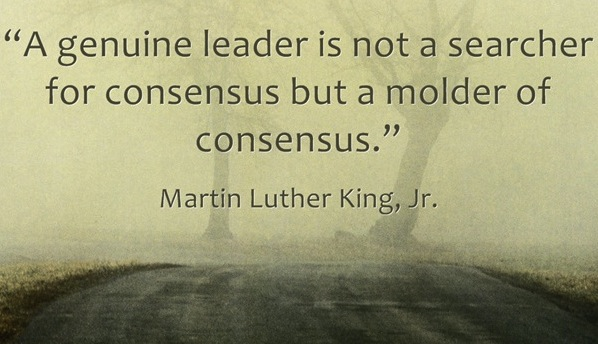 A genuine leader quote on leadership by Martin Luther King JR