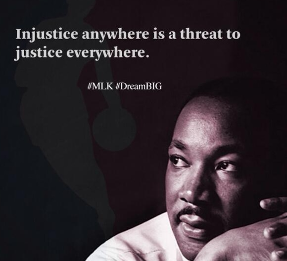 image of Injustice anywhere is a threat to justice everywhere quote
